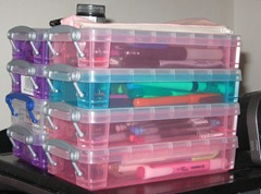 A few pencil boxes