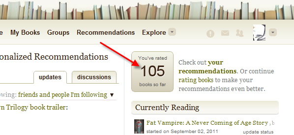 Goodreads Books You've Rated